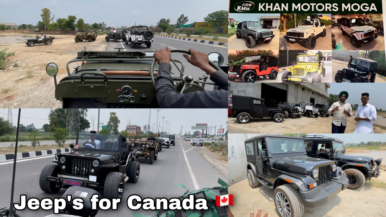 Open Willys Jeep | Low Rider Jeep | For Canada 🇨🇦 | Modified | Mahindra Thar | Khan Motors Moga