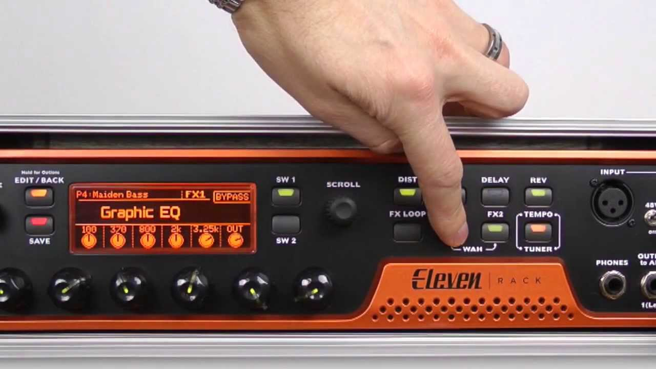 Eleven Rack How To Create The Iron Maiden Bass Sound Avid With