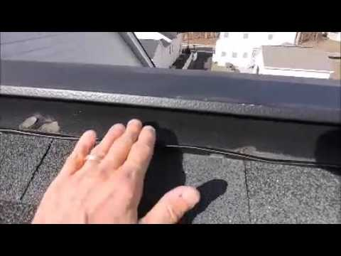 Ridge Vent Leak Repair Bristow Va Youtube