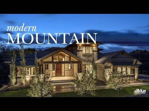 Modern Mountain Home | Outdoor Security & Garage Landscape Lighting Design - Omaha Nebraska