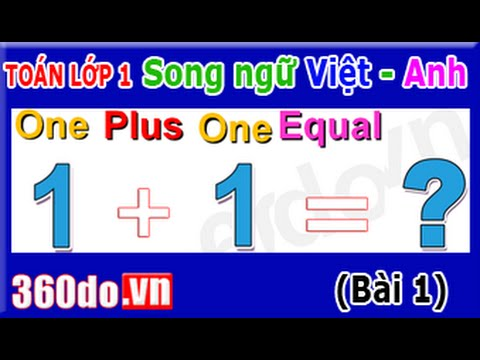Toán lớp 1 Song ngữ Việt - Anh [360do.vn] - Bài 1: Phép cộng trong phạm vi 5