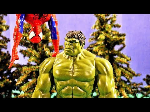 Hulk vs Spider-Man Superman vs Rhino Titan Hero Action Figure Movie!