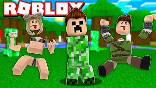 CREEPER LIFE FOR 1 DAY NO ROBLOX! (Creeper Chaos)