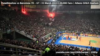 Pao vs Barca 78-67 | 20.000+ Fans | Last 5minutes | 1080p