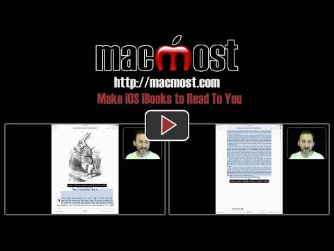 Make IOS IBooks To Read To You (#1330)