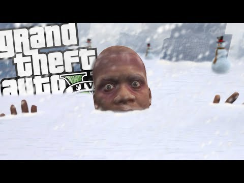 FRANKLIN Freezes To DEATH In A BLIZZARD (GTA 5 Mods)
