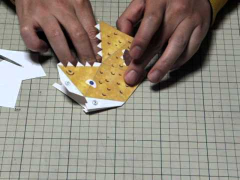 Origami Snapper Step 3 | Origami, Origami toys, Origami instructions | 360x480