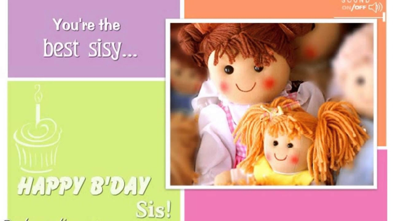 Happy Birthday Sister Wishes Ecards Message Greetings Card