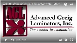 AGL Custom Industrial Laminator with HMI control