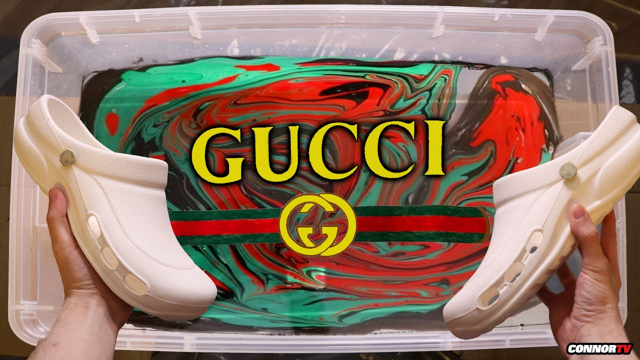 HYDRO Dipping Crocs , GUCCI Custom Shoes (Crazy)