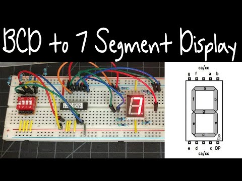 Tutorial | Using the 7447 74HC47 BCD to 7 Segment Display Decoder