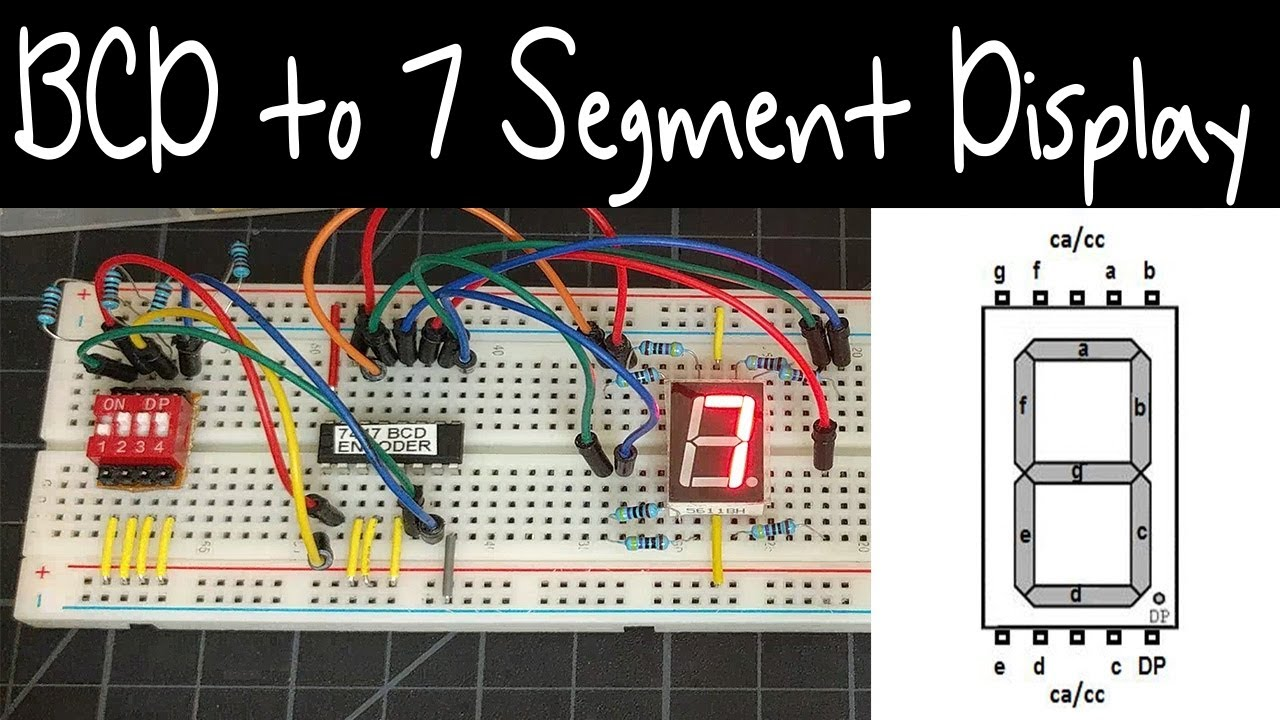Tutorial Using The 7447 74hc47 Bcd To 7 Segment Display Decoder Keypad Circuit That Will Convert From Decimal
