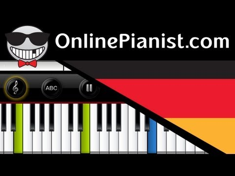Germany National Anthem - Deutsche Nationalhymne - Piano Tutorial & Sheets