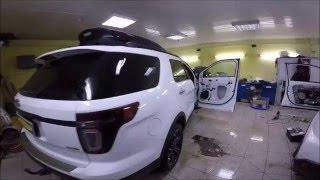 Ford Explorer замена штатной акустики, шумоизоляция