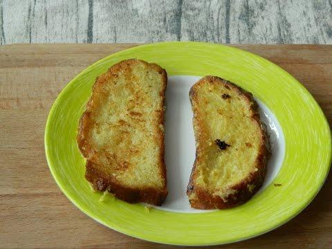 Как приготовить сладкие гренки из белого хлеба на молоке с яйцом