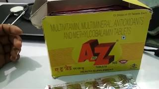 A to Z Tablet| भूख बढ़ाये, सेहत बनाये uses, side effects, ingredients full review in hindi