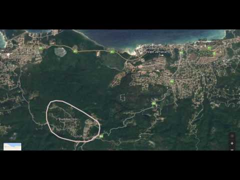 Land for sale in Jamaica - Sky view of ocean view lots