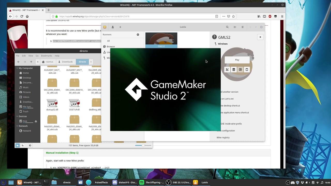 Linux - Run the GMS2 IDE on Ubuntu 19 04   GameMaker Community