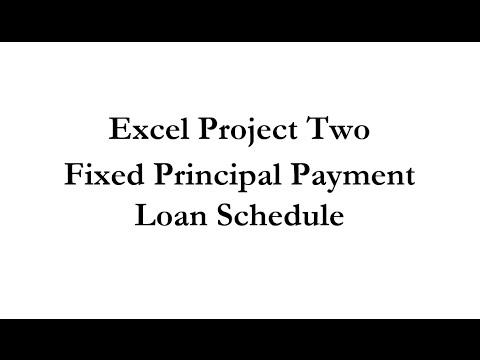Acc 231 Fixed Principal Payment Loan Schedule
