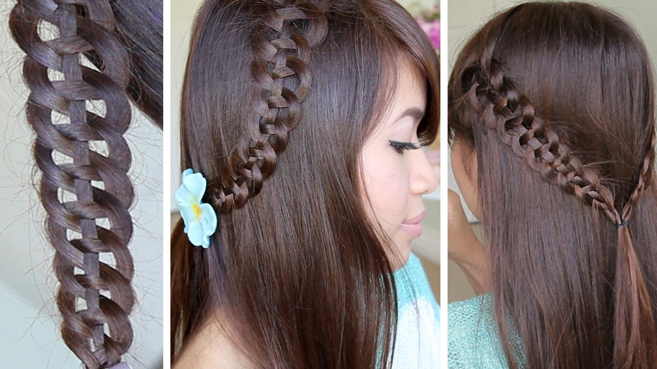 4 Strand Slide Up Braid Hairstyle Hair Tutorial Youtube