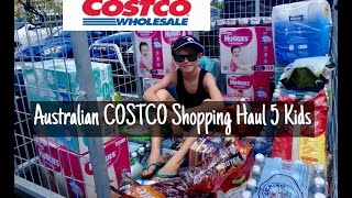 australian costco grocery shopping haul with 5 kids bulk buying