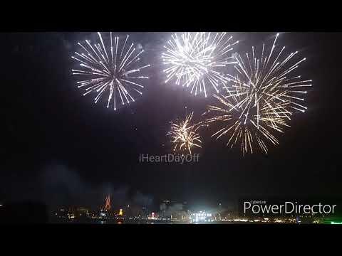 Fireworks Happy New Year 2020 at Al Seef Dubai Creek