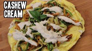 Zucchini And Sweet Potatoes With Cashew Cream