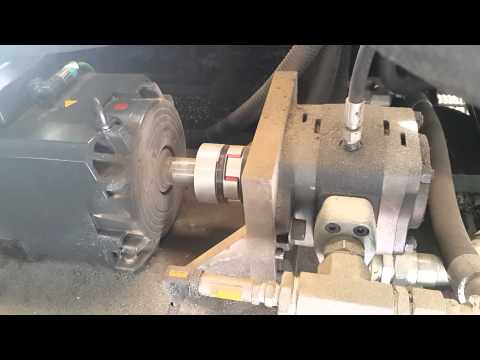 Servo hydraulic at injection and holding pressure