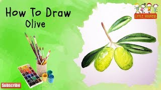 How to Draw Olive with Ease | Kids Drawing|Olive Drawing with Colors| Olive Drawing |Little Soldiers