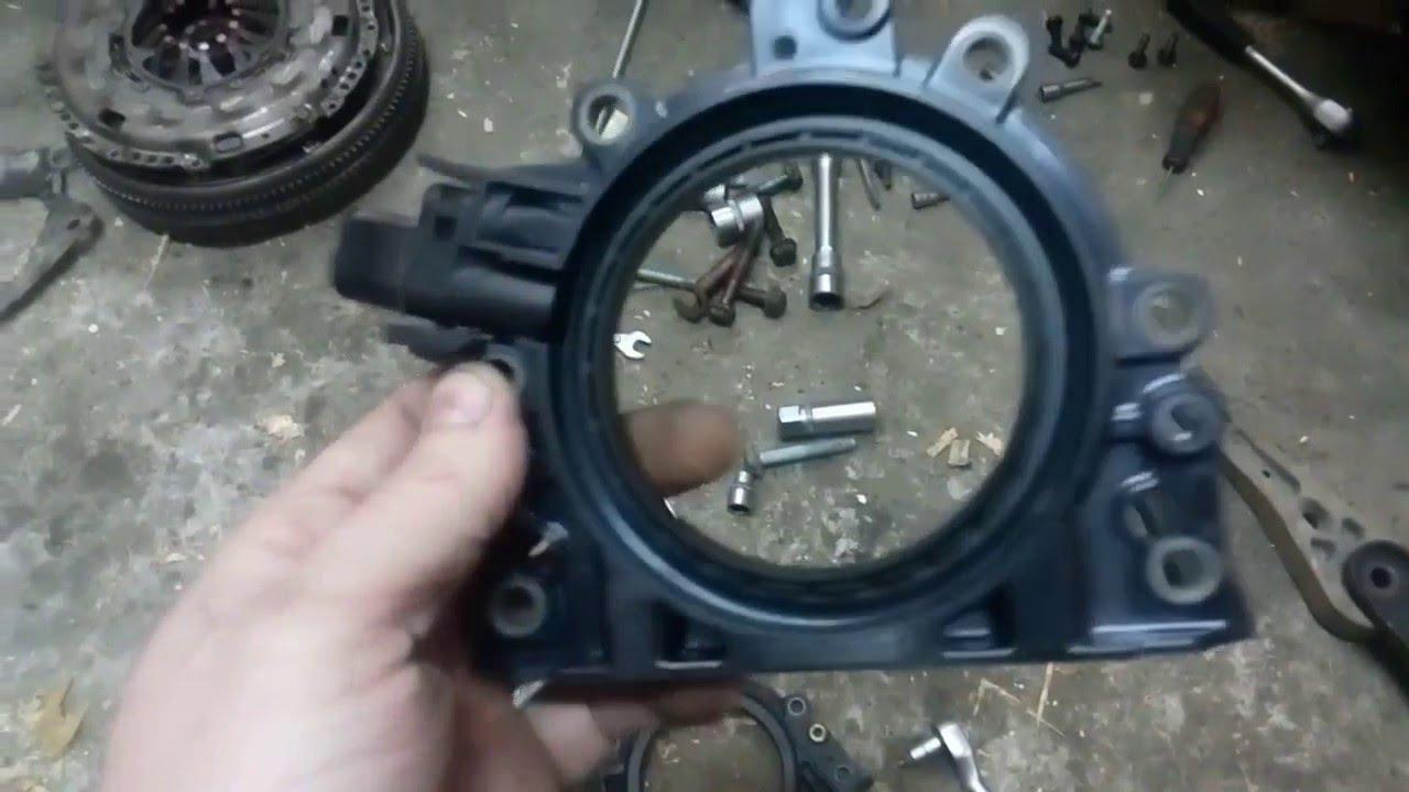 замена заднего сальника коленвала фиат мареа видео
