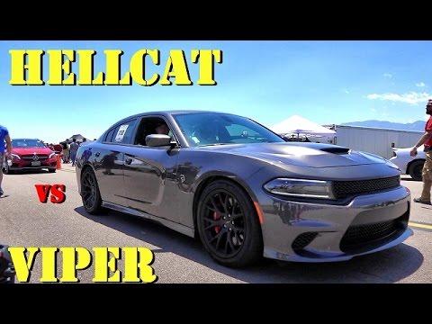 Challenger Hellcat Vs Dodge Viper 1 2 Mile Doovi