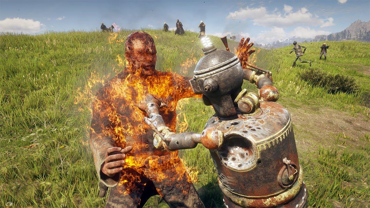 Red Dead Redemption 2 - Brutal Robots VS Humans Gameplay Vol.4 (Euphoria Ragdolls)