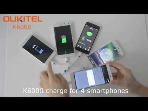 OUKITEL K6000 Reverse Charge for Samsung, iPhone, K4000, iPad, LED lights & USB Fan