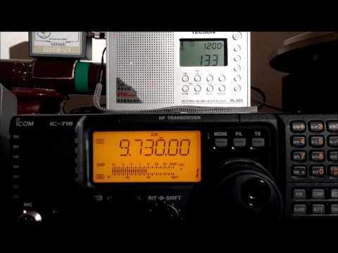 Myanmar Radio in Burmese dialect 9730KHz of Yangon, Myanmar - 08JAN2017 01:33 utc