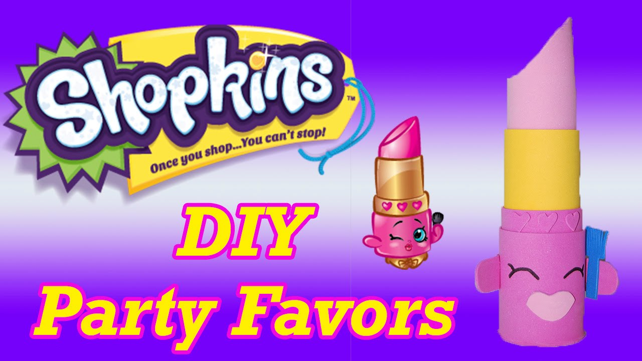 DIY How To Make Shopkins Birthday Party Favors Lippy Lips Cake Topper  Decoration   YouTube