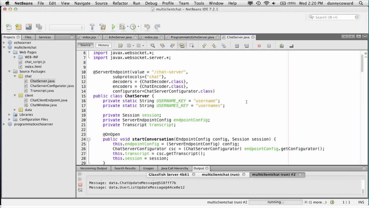 Java API for WebSocket 1 0 Demo