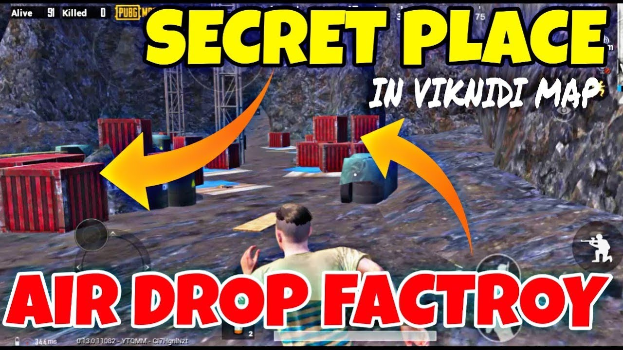 PUBG SECRET PLACE || AIR DROP FACTORY IN VIKINDY MAP || LION MOBO GAMING