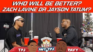 Will Zach Lavine or Jayson Tatum be better long term | Hoops N Brews thumbnail