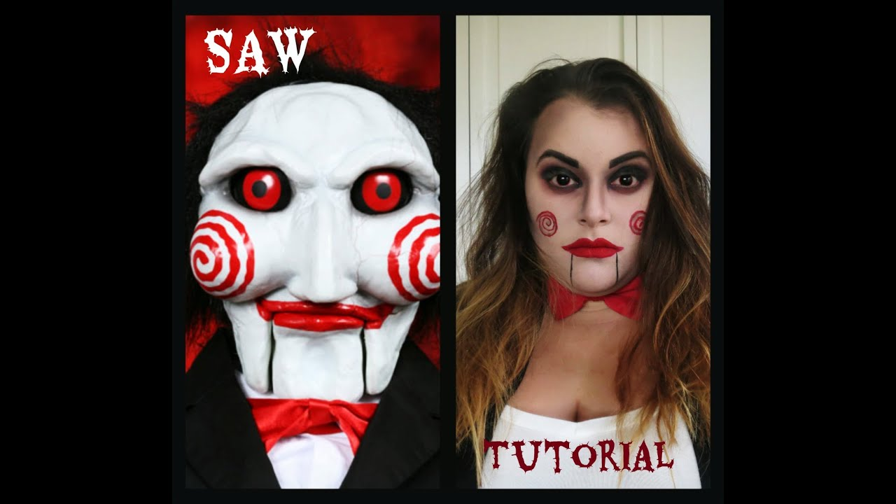 SAW Puppet (Billy the Doll) Makeup Tutorial ! - YouTube