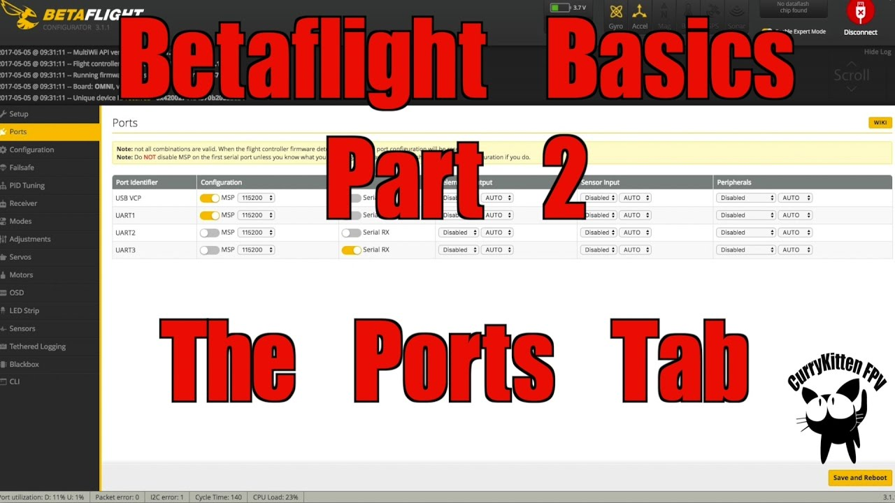 386d65aefd5f6d FPV Tutorial  BetaFlight Basics Part 2 - What s the Ports tab for ...