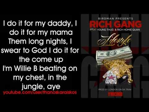 Rich Gang - Lifestyle ft. Young Thug, Rich Homie Quan (Lyrics)