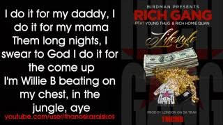 vuclip Rich Gang - Lifestyle ft. Young Thug, Rich Homie Quan (Lyrics)