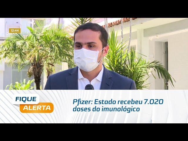 Pfizer: Estado recebeu 7.020 doses do imunológico enviadas pelo Ministério da Saúde