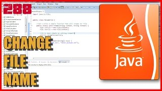 JAVA EXERCISES How to change file name
