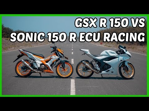 Drag GSX R 150 VS Sonic 150 ECU Racing