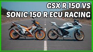 Drag GSX R 150 VS Sonic 150 ECU Racing