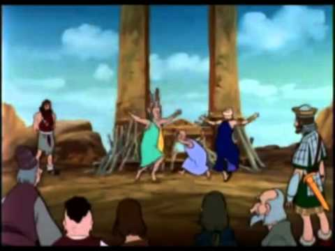Elias Desafia a los Sacerdotes de Baal Monte Tabor - YouTube.flv