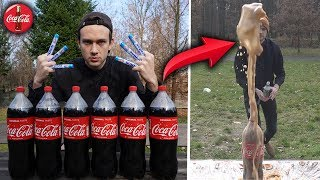 100 MENTOSEK VS COCA COLA! 🤯 - Experiment