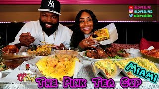 A taste test at the Pink Tea Cup Miami w/ Celebrity Chef LP from Hustle & Soul