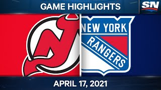NHL Game Highlights | Devils vs. Rangers - Apr. 17, 2021